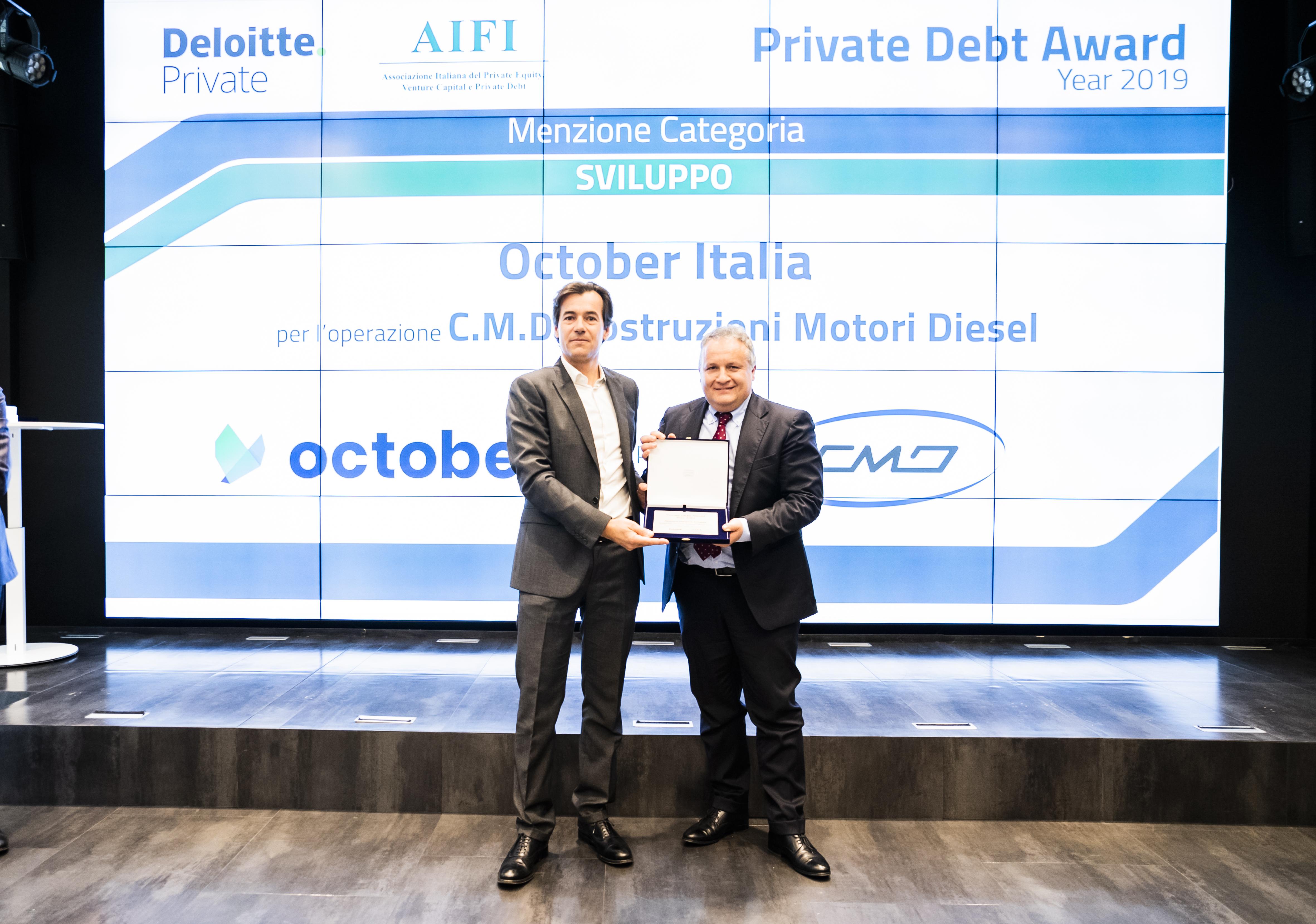 October Private Debt Award